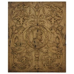 18th Century French Carved Oak Panel