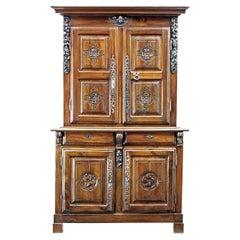 18th Century French Carved Walnut Cupboard