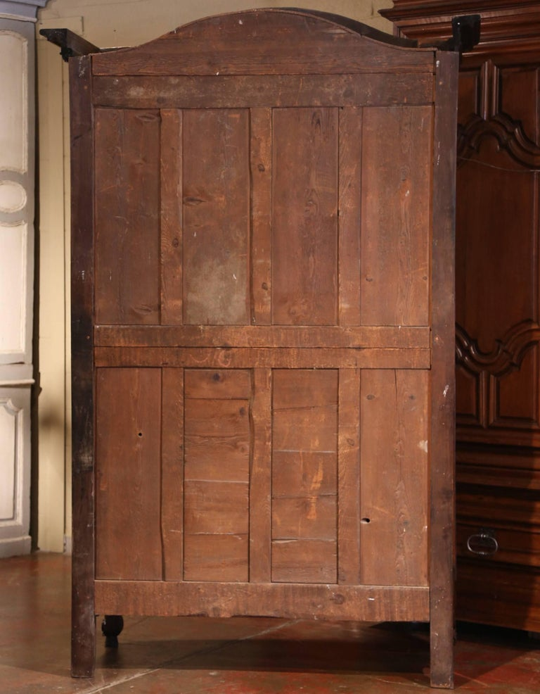 18th Century French Carved Walnut Wedding Armoire from Provence For Sale 4