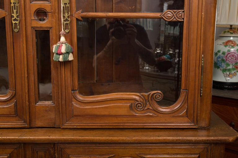 18th Century French Cherry Buffet a Deux Corps For Sale 9
