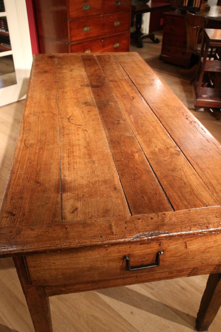 1d46fc1901a8 18th Century French Cherrywood Farmhouse Table at 1stdibs