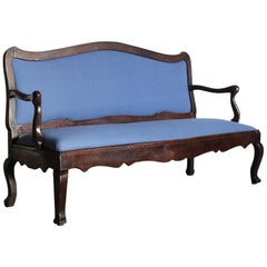 18th Century French Chestnut Sofa or Bench from Bordeaux
