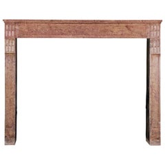 18th Century French Classic Library Antique Fireplace Surround