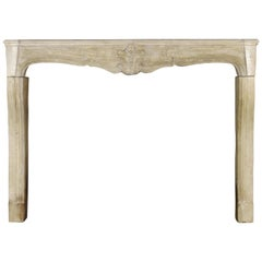 18th Century French Country Antique Fireplace Surround in Limestone