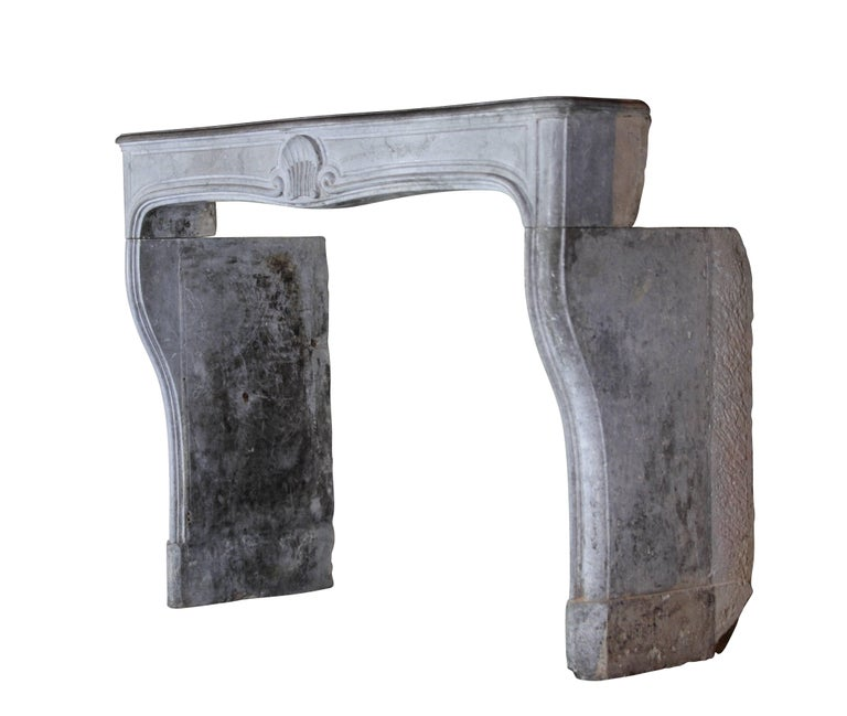 18th Century and Earlier 18th Century French Country Bleu Stone Regency Fireplace Surround For Sale