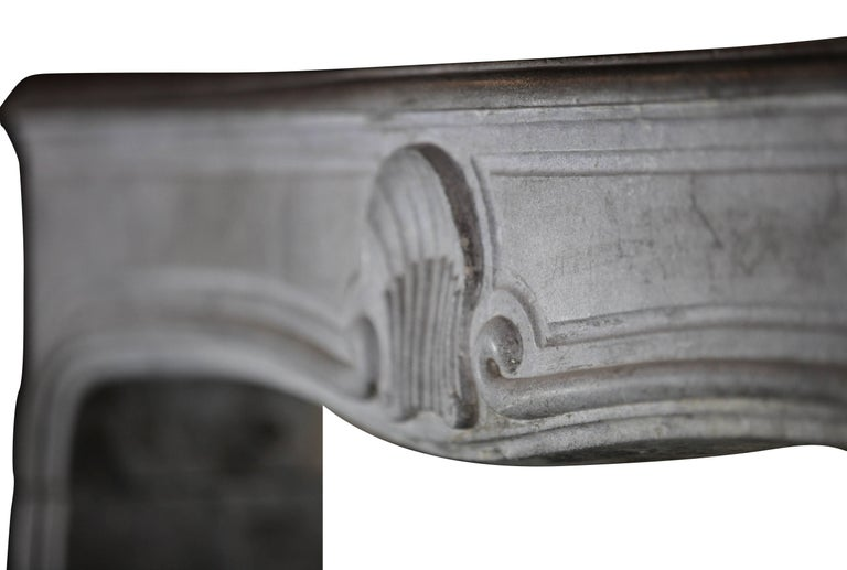 18th Century French Country Bleu Stone Regency Fireplace Surround For Sale 3