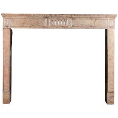 18th Century French Country Chique Limestone Antique Fireplace Surround