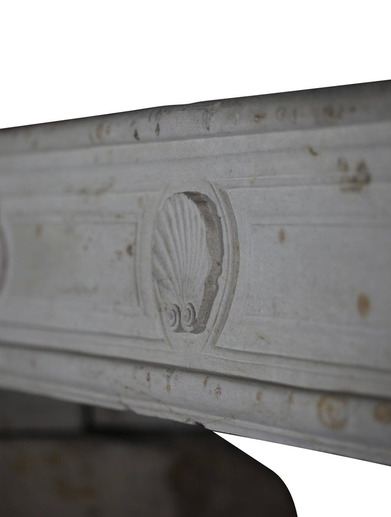 18th Century French Country Regency Period Limestone Fireplace Surround For Sale 1
