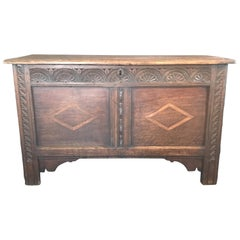 18th Century French Early Inlaid Coffer Chest