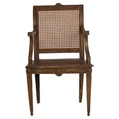 18th Century French Empire Caned Fauteuil