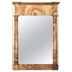 18th Century French Faux Marble Mirror