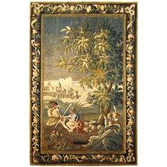 18th Century French Felletin Pastoral Tapestry
