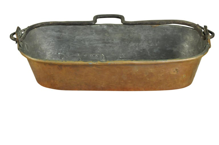 A very charming French 18th century fish pan from the southwest of France. Terrific patina.