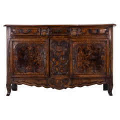 18th Century French Fruitwood and Burr Ash Buffet