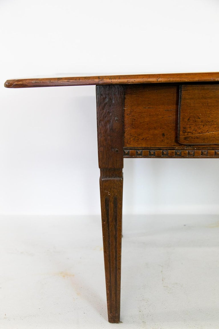 Hand-Carved 18th Century French Fruitwood Work Table For Sale