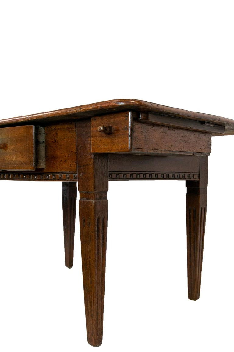 18th Century French Fruitwood Work Table For Sale 3