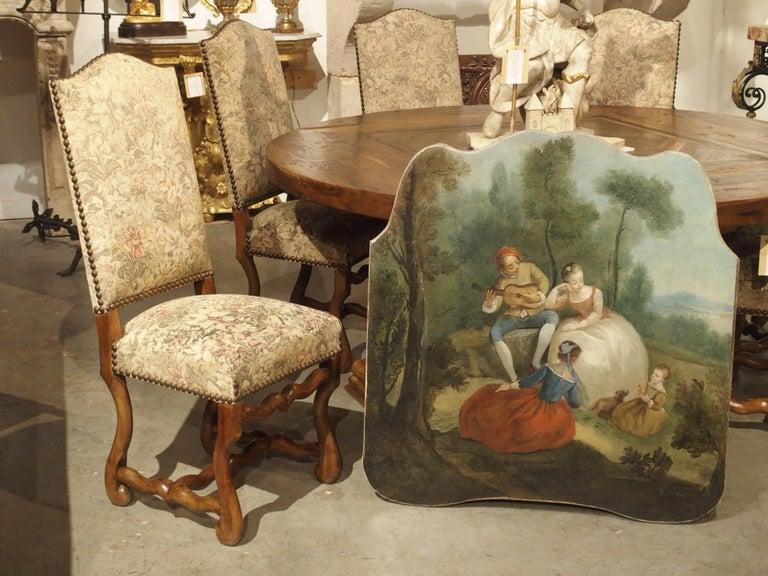 18th Century French Genre Scene Overdoor Painting, circa 1770 For Sale 12