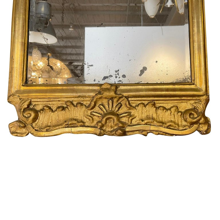 18th Century French Gilded Rococo Wall Mirror For Sale 2