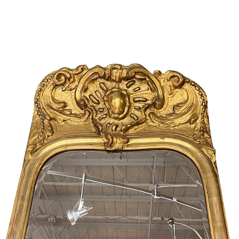 18th Century French Gilded Rococo Wall Mirror For Sale 3