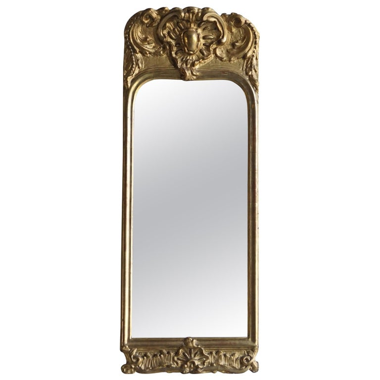 18th Century French Gilded Rococo Wall Mirror For Sale