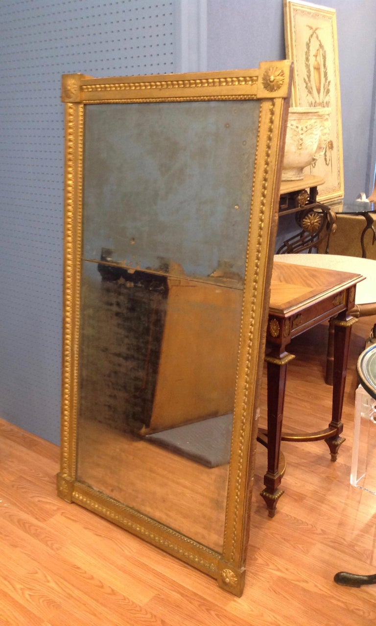 18th Century 18TH Century French Gilt Wood Mirror  For Sale