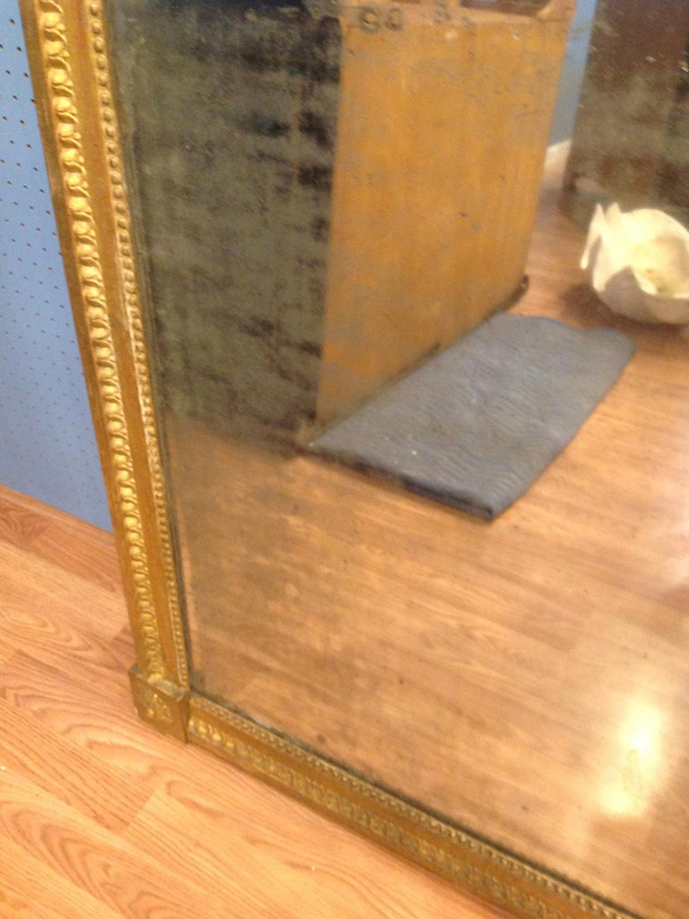 18TH Century French Gilt Wood Mirror  For Sale 1
