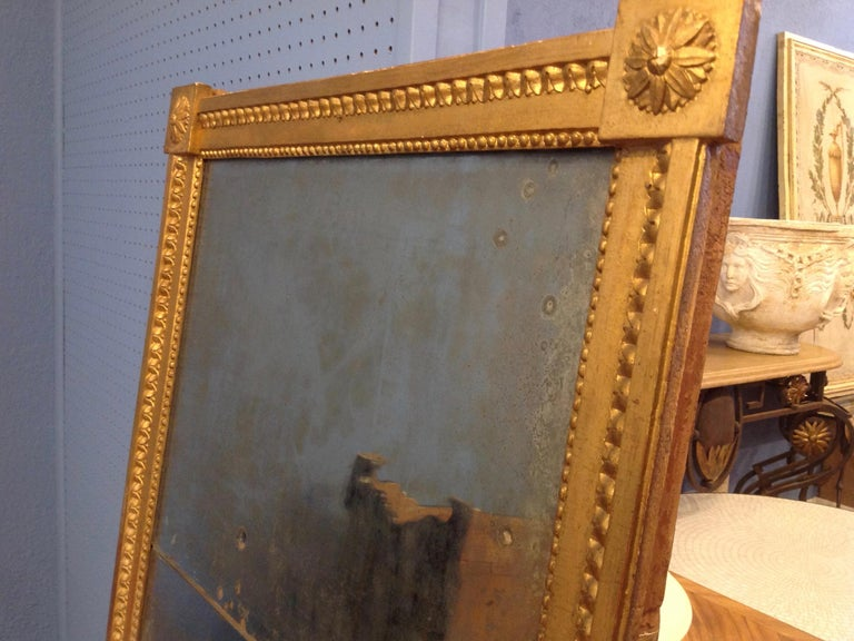 18TH Century French Gilt Wood Mirror  For Sale 4