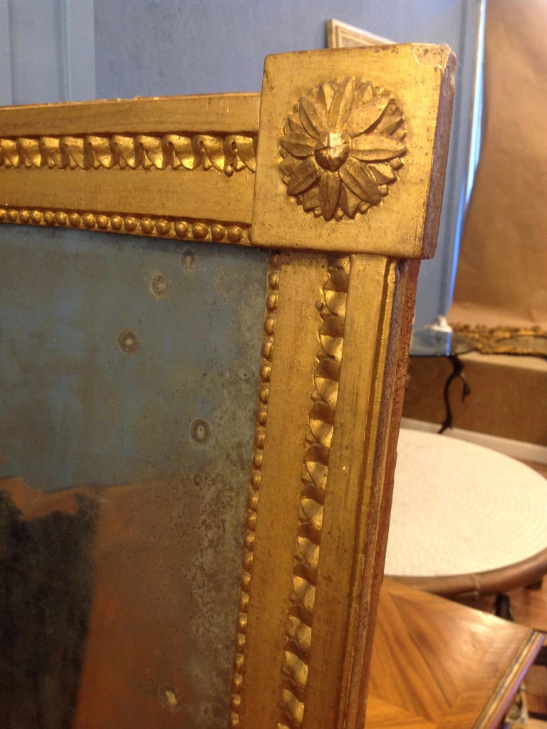 18TH Century French Gilt Wood Mirror  For Sale 5
