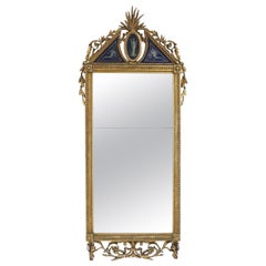 18th Century French Giltwood and Églomisé Pier Mirror