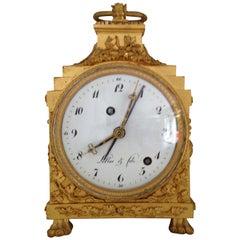 18th Century French Grande Sonnerie Pendule D'officier Alarm Clock