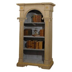 French 18th Century Bibliothèque with Original Painted Finish and Pilasters