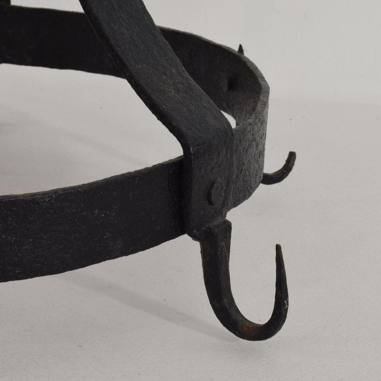 18th Century French Hand Forged Iron Game Rack For Sale 5