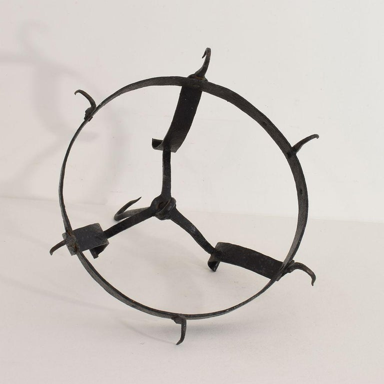 18th Century French Hand Forged Iron Game Rack For Sale 8