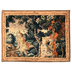 18th Century French Handwoven Aubusson Tapestry with Cherubs