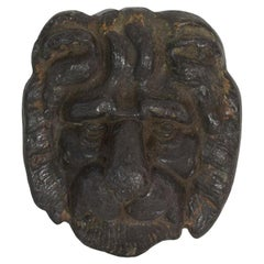18th Century French Lead Lion Head