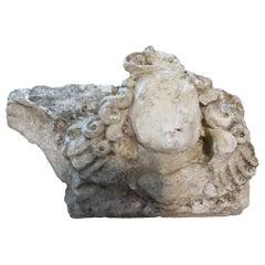 18th Century French Limestone Capital