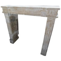 18th Century French Limestone Fireplace Mantel