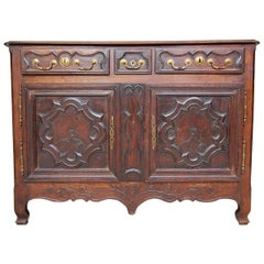 18th Century French Lorraine Sideboard Made of Oak