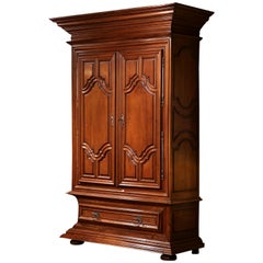 18th Century French Louis XIII Walnut Two-Door Armoire from the Loire Valley