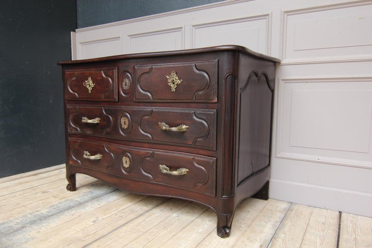 Walnut 18th Century French Louis XIV Chest of Drawers, JME H. Hansen For Sale