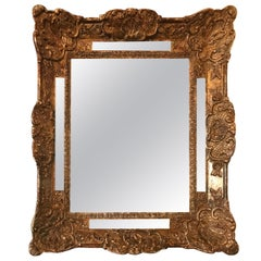 18th Century French Louis XIV Cushion Style Mirror