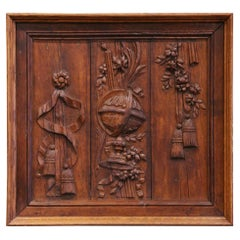 18th Century French Louis XIV Framed Carved Oak Wall Decor