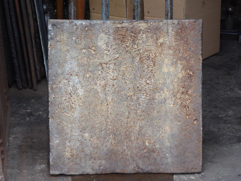 18th Century French Louis XIV 'Saint Andrew's Cross' Fireback For Sale 3
