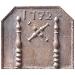 18th Century French Louis XIV 'Saint Andrew's Cross' Fireback