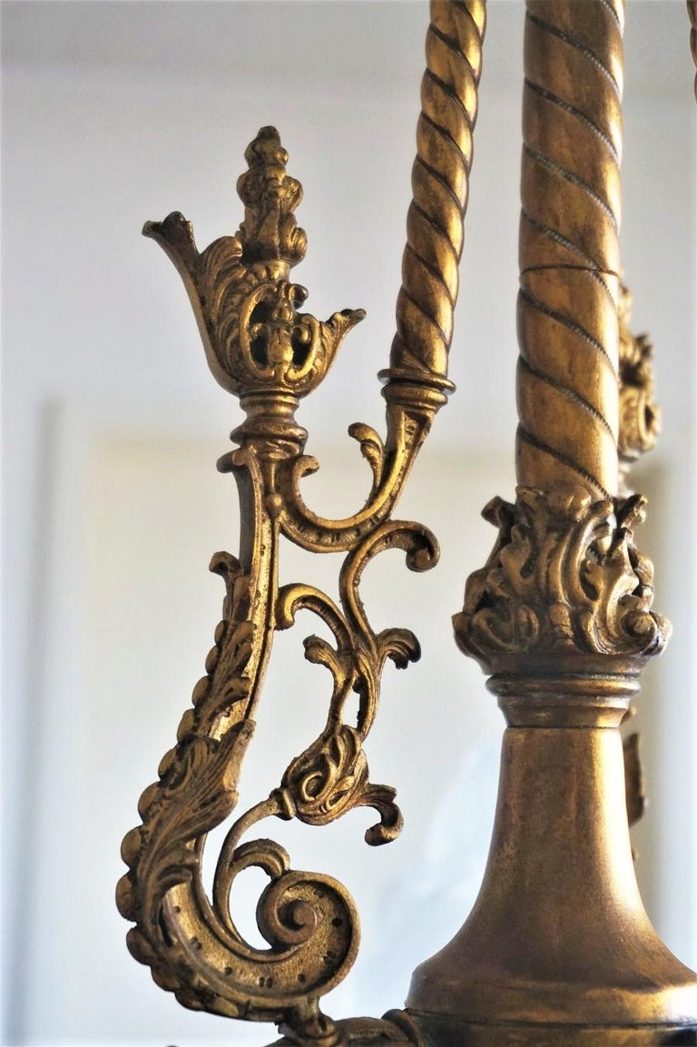 Fine 18th Century French Louis XVI Style Fire-Gilded Bronze Electried Chandelier For Sale 8