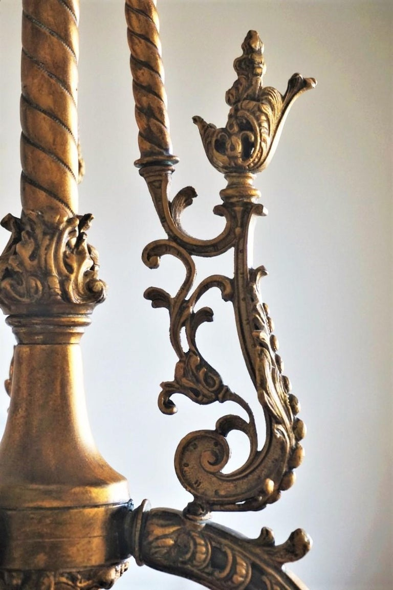 Fine 18th Century French Louis XVI Style Fire-Gilded Bronze Electried Chandelier For Sale 9