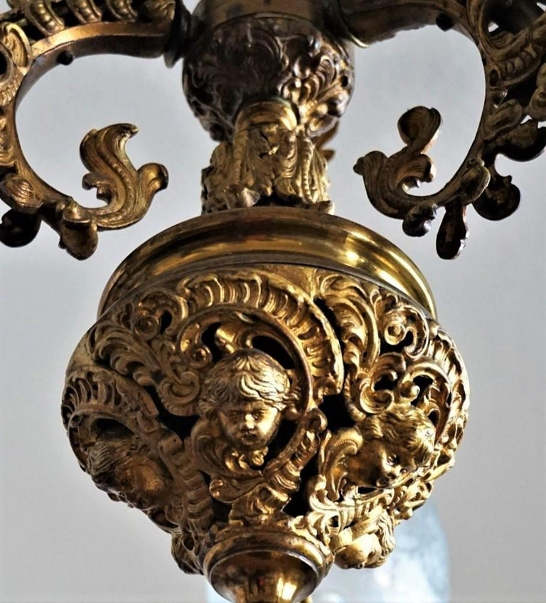 Fine 18th Century French Louis XVI Style Fire-Gilded Bronze Electried Chandelier For Sale 5