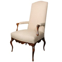 18th Century French Louis XIV Walnut Chair