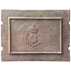 18th Century French Louis XV 'Arms of France' Fireback