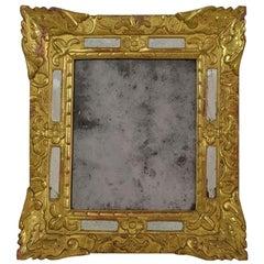 18th Century French Louis XV Baroque Giltwood Mirror